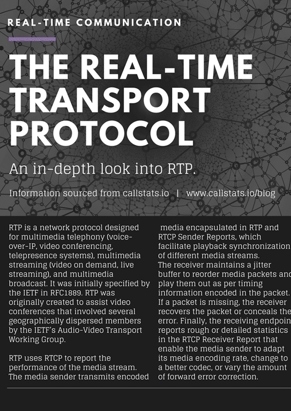 RTC: The Real-Time Transport Protocol