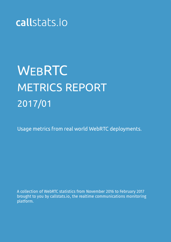 Second issue of the WebRTC Metrics Report series