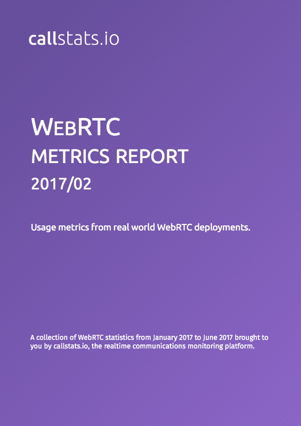 Third issue of the WebRTC Metrics Report series