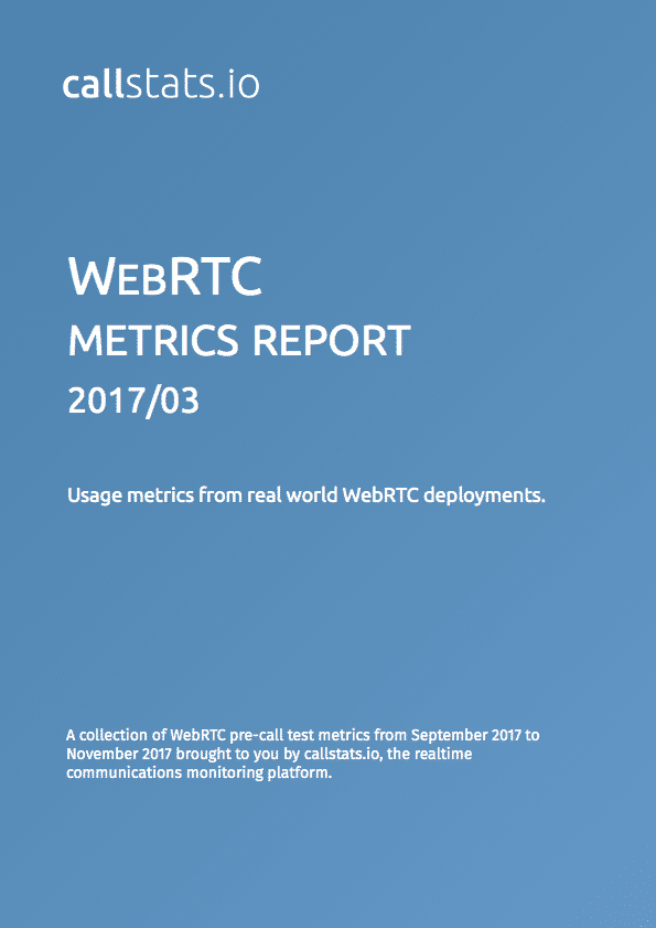 WebRTC Metrics Report on pre-call test statistics