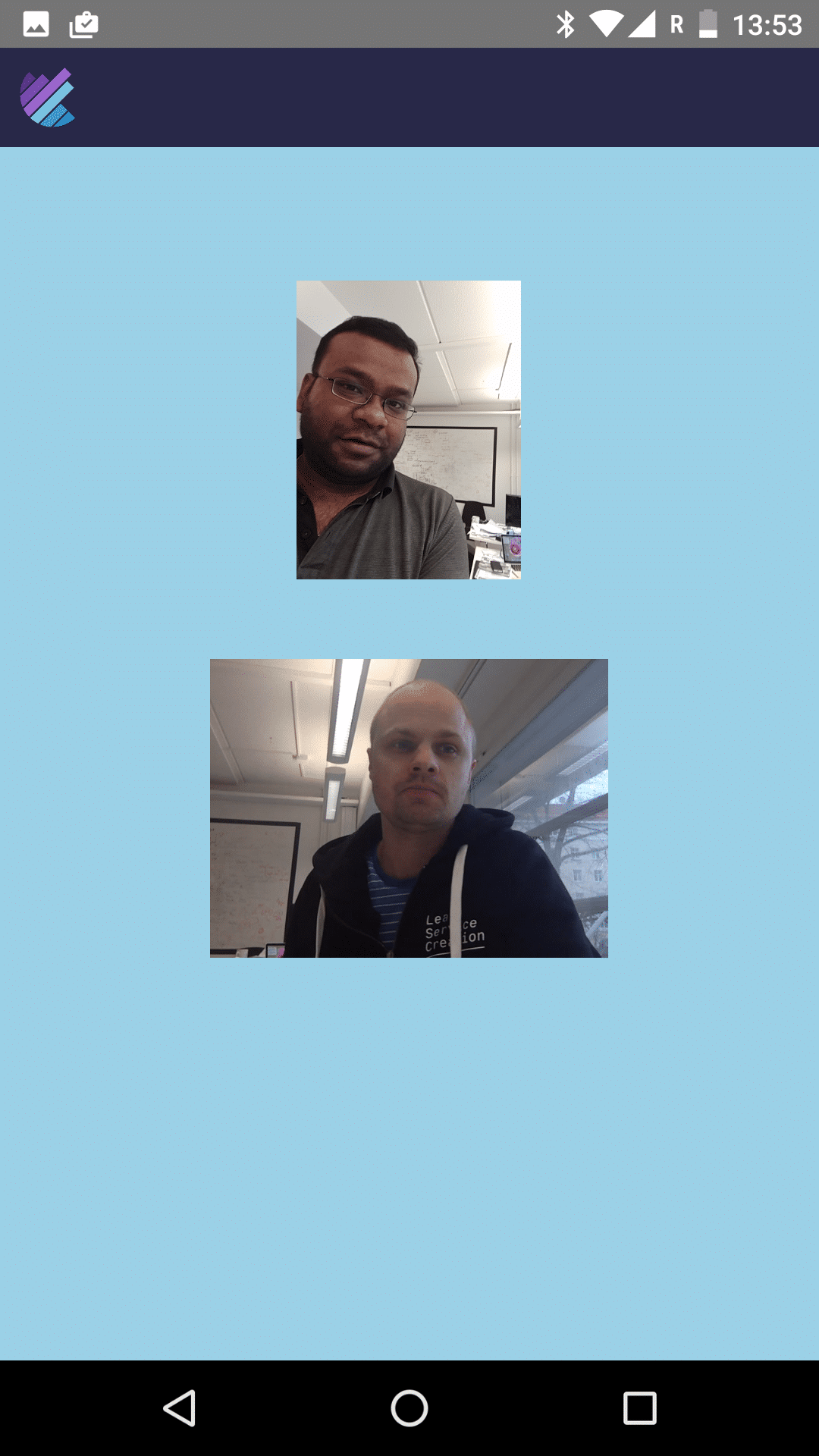 A live conference in the callstats.io React Native application.