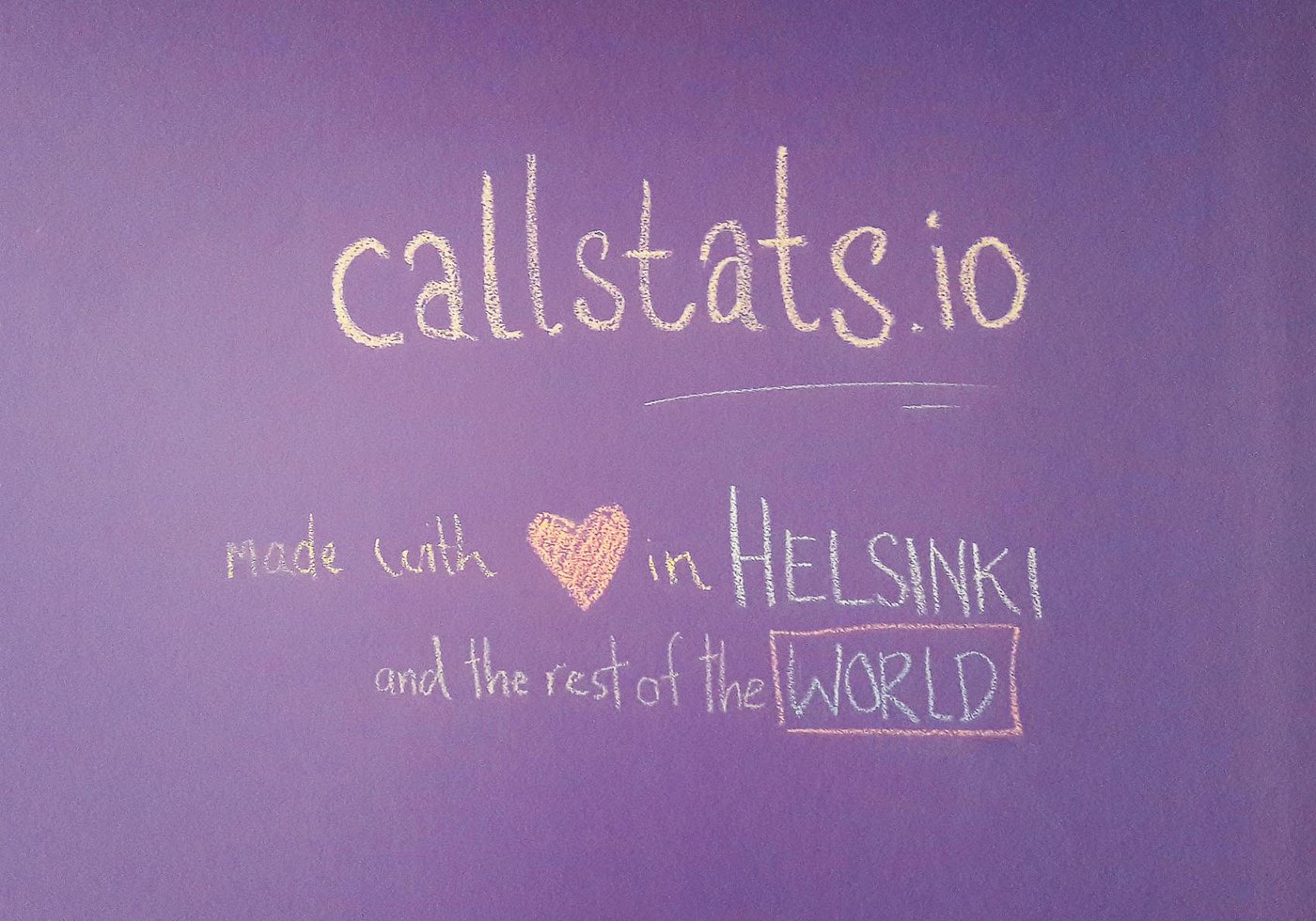 callstats.io: made with heart in helsinki and the rest of the world.