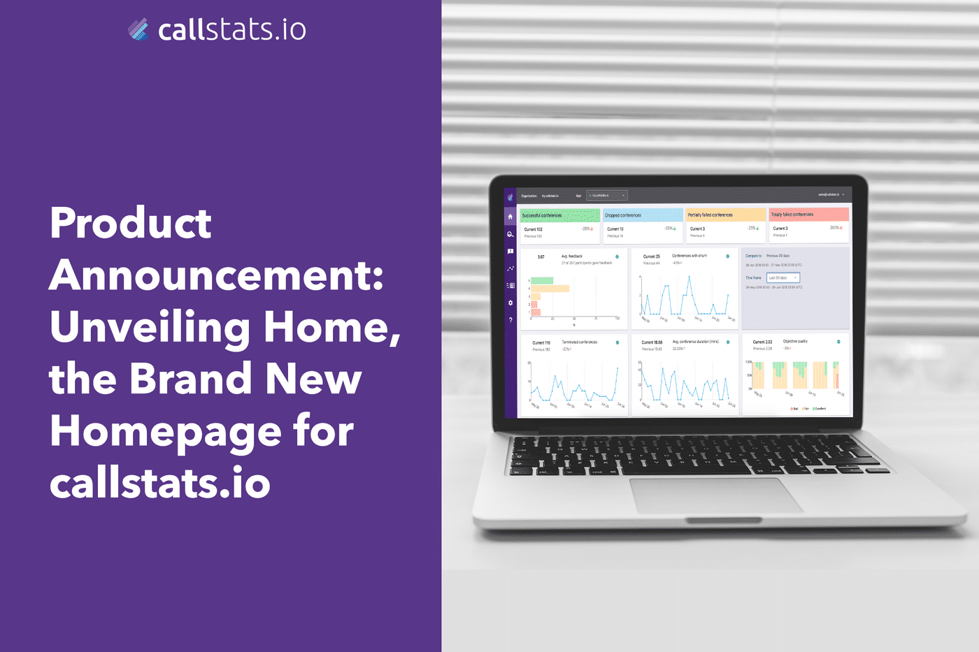 Product Updates: Unveiling the brand new homepage for callstats.io